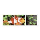 Часы-триптих модульные «Рыбка», 40 × 100 см
