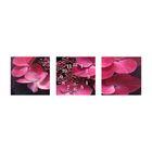 Часы-триптих модульные «Розовые цветы», 40 × 100 см