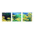 Часы-триптих модульные «Жёлтые цветы», 40 × 100 см