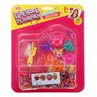 """Резиночки для плетения """"Карамель"""" разноцветные, набор 780 шт., пяльцы, 2 крючка, крепления, 4 шарма, инструкция"""