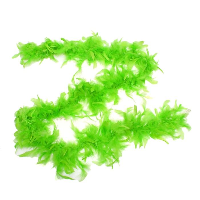 Карнавальный шарф-перо, 180 см, цвет зёленый