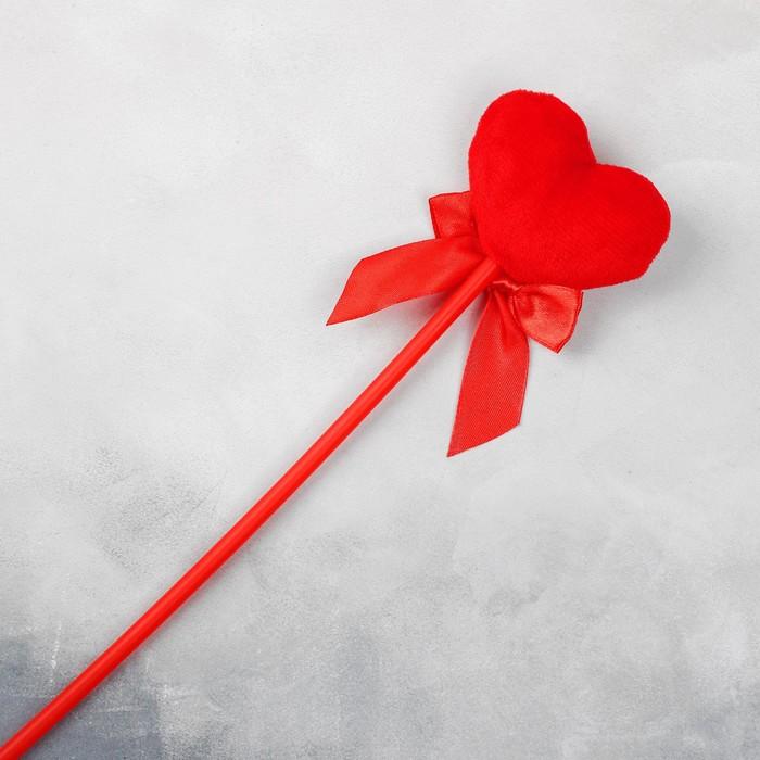 "Мягкая игрушка на палочке ""Я тебя люблю"" сердце"