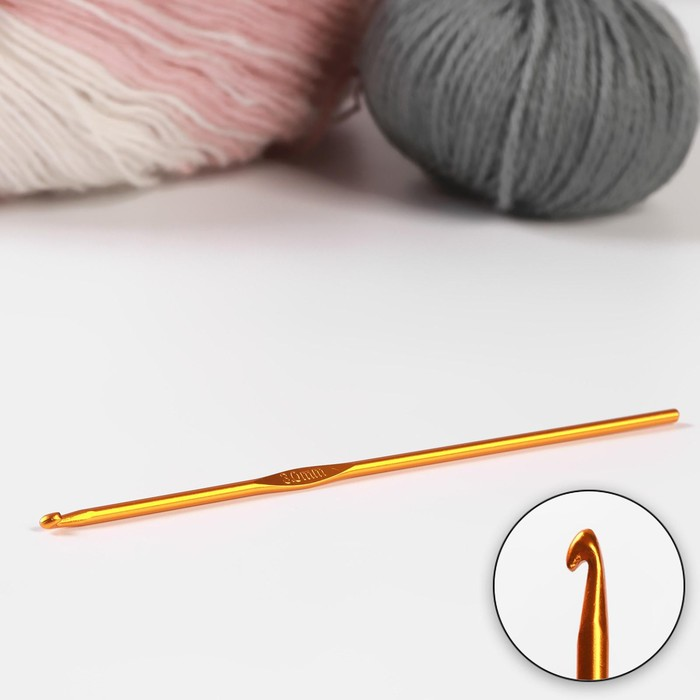 Крючок для вязания, d=3мм, 15см, цвет МИКС