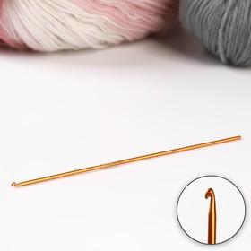 Крючок для вязания, d=2мм, 15см, цвет красный Ош