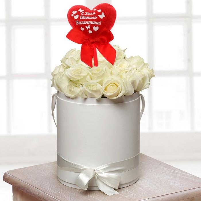 """Топпер в букет """"С Днем Святого Валентина"""" сердце"""