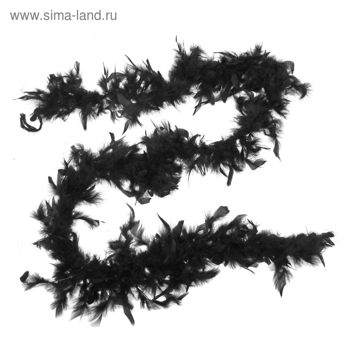 Carnival scarf-feather, 180cm, black