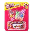 """Резиночки для плетения """"Лето"""" разноцветные, набор 780 шт., пяльцы, 2 крючка, крепления, 4 шарма, инструкция"""