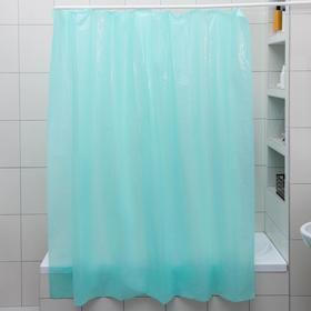 Штора для ванной комнаты, 180×180 см, полиэтилен, цвет МИКС