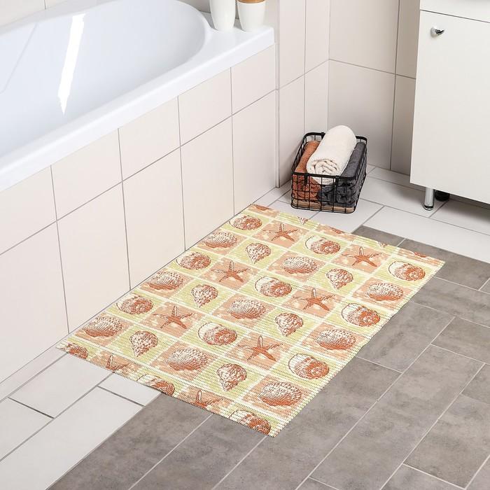 Коврик для ванной комнаты «Ассорти», 65×90 см, ПВХ, цвет МИКС