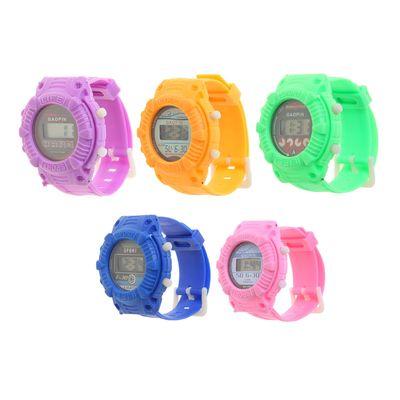 Часы наручные электронные «Сочные цвета», детские, с силиконовым ремешком l=22 см, микс,
