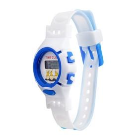 Часы наручные детские 'Джуниор', электронные, с силиконовым ремешком, микс, l=22 см Ош