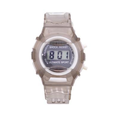 Часы наручные электронные «Прекрасная жизнь», детские, с прозрачным силиконовым ремешком, циферблат микс