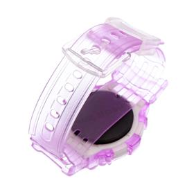 Baby electronic wrist watch, silicone strap, on the dial of flowers, a mix