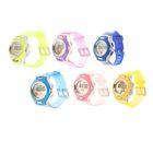 Часы наручные детские электронные с силик. прозр ремешком, циферблат двухцветный цвета микс 20*3,5*1
