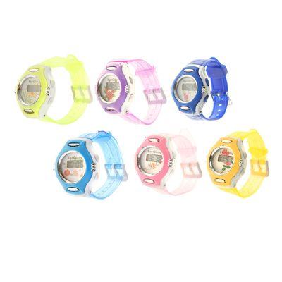 8fa1f0a295e6 Часы наручные детские электронные ремешок прозрачный силикон, микс 20х3.5х1  см