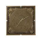 """Часы настенные квадратные """"Серия Сумрак. Наплывы"""", 32 × 32 см, под золото"""