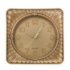 """Часы настенные """"Серия Сумрак. Лепестки"""", квадратные с закруглёнными углами, 35 × 35 см, золотистые"""
