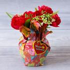 Настольный мини–букет «Люблю тебя», 15 × 10 см