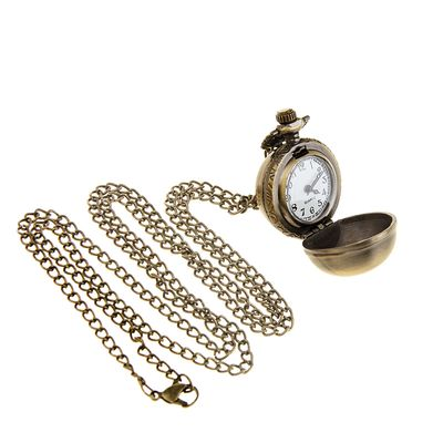 Карманные кварцевые часы «Леди. Бронза», на цепочке 80 см
