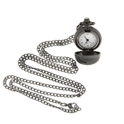 Карманные кварцевые часы «Леди. Хром», на цепочке 80 см