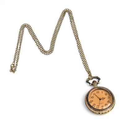 Карманные кварцевые часы «Бронзовый каркас», на цепочке 80 см