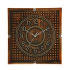 """Часы настенные квадратные """"Серия Сумрак. Кубики"""", 29 × 29 см, рама под состаренное дерево"""