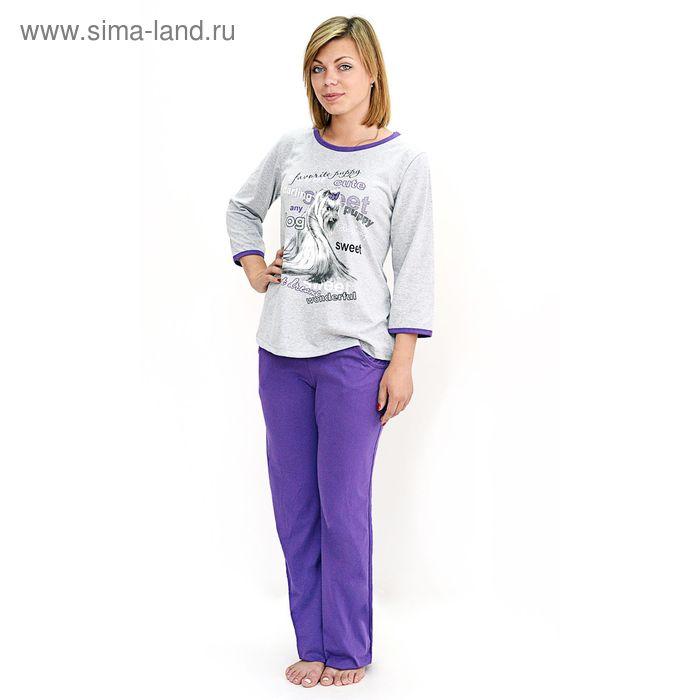 Комплект женский (фуфайка, брюки) ТК-32 А, цвет микс, размер 52, кулирка