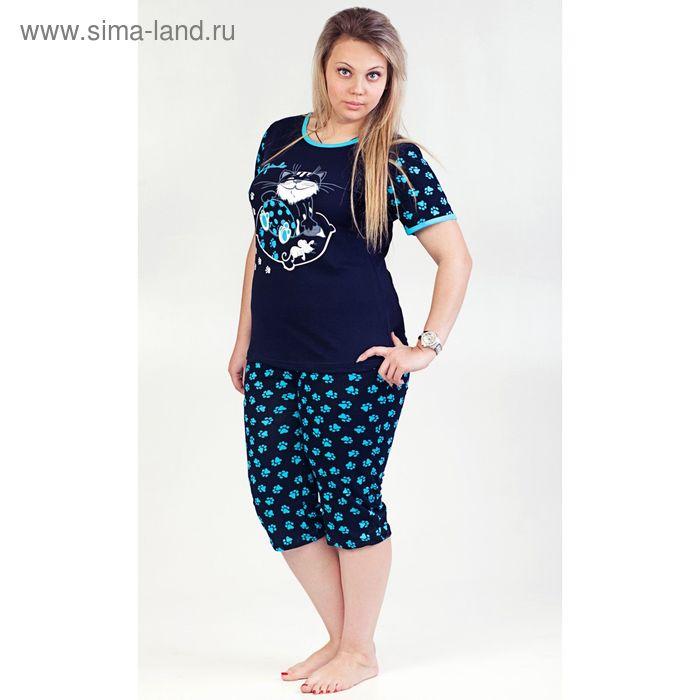 Комплект женский (футболка, бриджи) ТК-522К МИКС, р-р 54