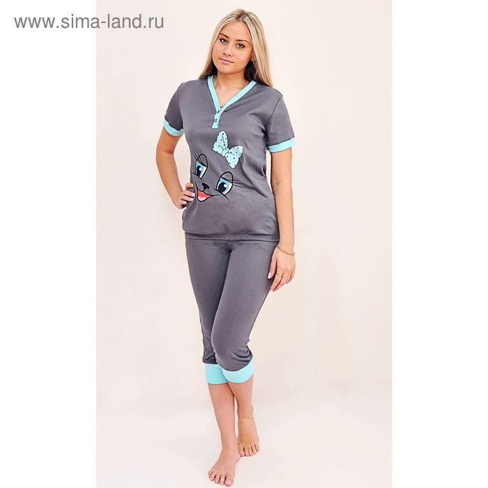 Комплект женский (футболка, бриджи) ТК-500А МИКС, р-р 56