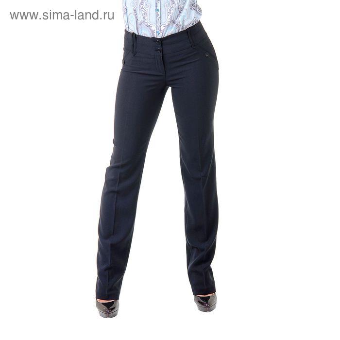 Брюки классические женские 5152503, размер 44, рост 170 см, цвет синий