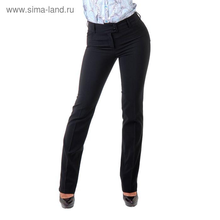 Брюки женские 590080, размер 44, рост 170 см, цвет черный