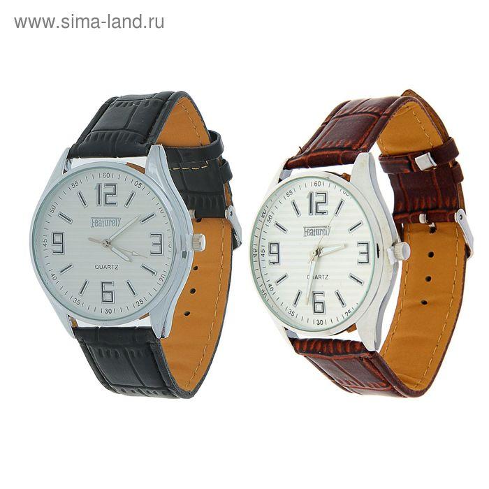 Часы наручные мужскиеFeaturely мод.4 (белый-серебряный-коричневый/черный)