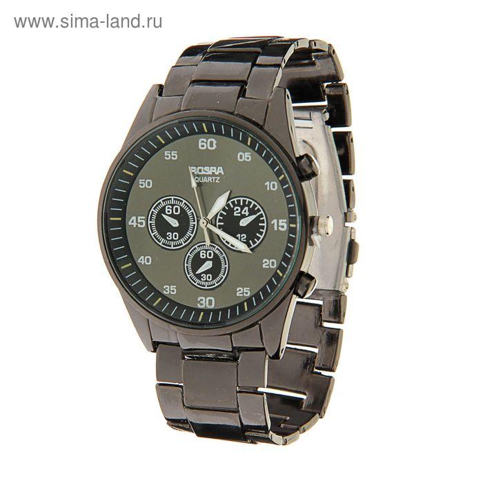 Часы наручные мужские Rosraмод.3 (черный-титан)