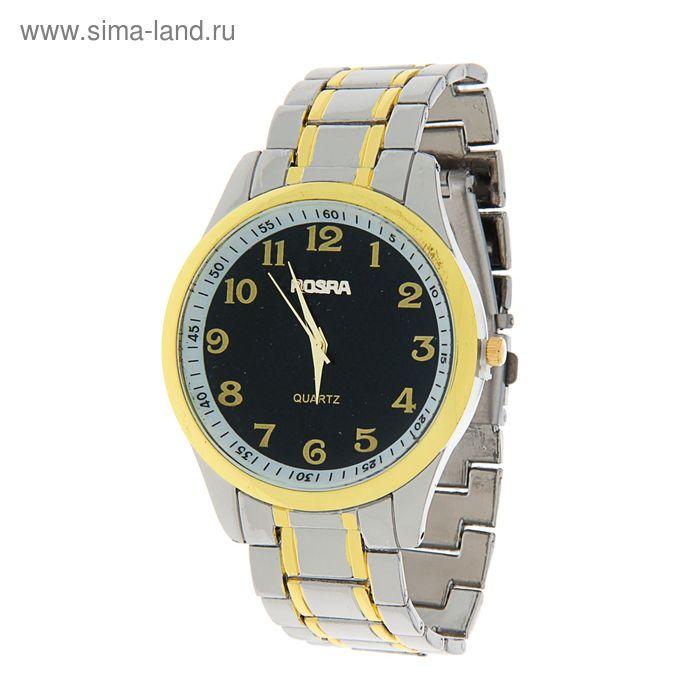 Часы наручные мужские Rosraмод.1 (черный-золото)
