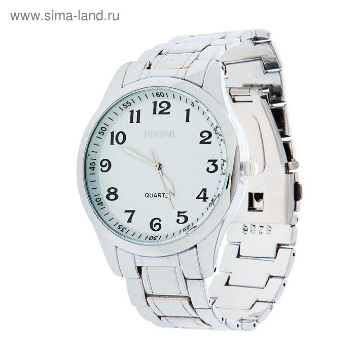 Часы наручные мужские Rosraмод.6 (белый-серебро)