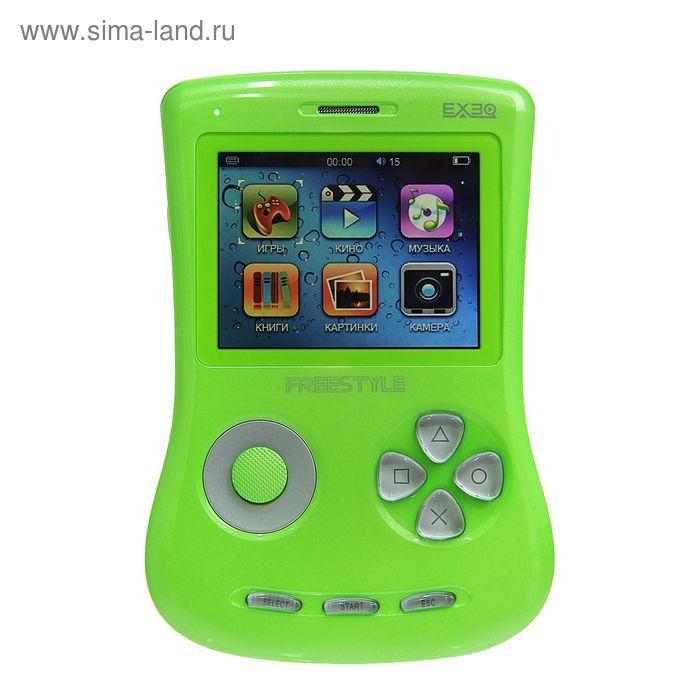 """Игровая приставка FreeStyle 2,7"""", 700 игр, 4 Gb, AVI, MP3, камера, подключение к TВ, зеленая"""
