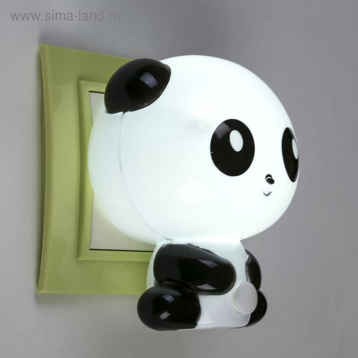 """Ночник """"Панда"""", чёрный, 1 LED"""
