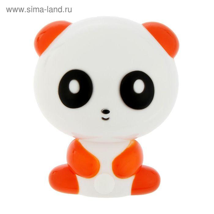 "Ночник ""Панда"", оранжевый, 1 LED"