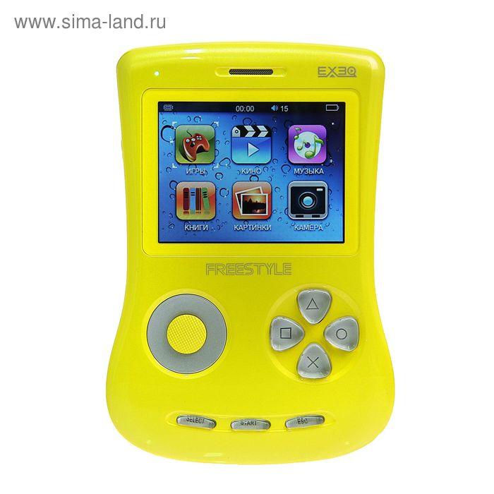 """Игровая приставка FreeStyle 2,7"""", 700 игр, 4 Gb, AVI, MP3, камера, подключение к TВ, желтая"""