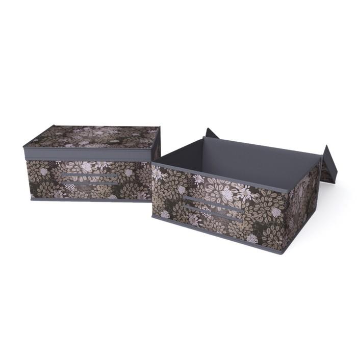 """Короб большой жесткий 45х35х20 см """"Серебро"""""""