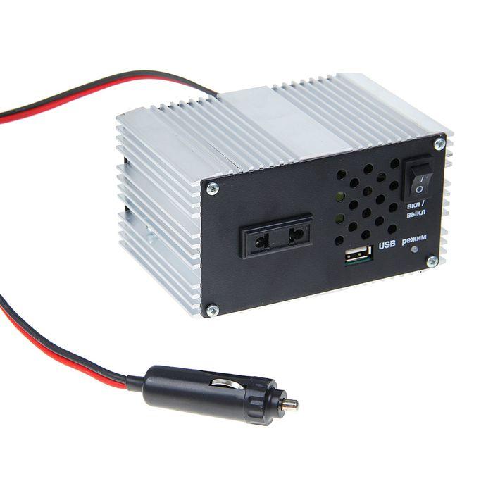 Преобразователь напряжения ПН-60, из 12 В в 220 В, max 450 Вт