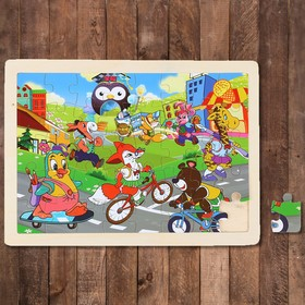 "Puzzle Cartoon ""School routine"", 40 elements"