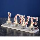 """Подсвечник на 4 свечи """"LOVE"""""""