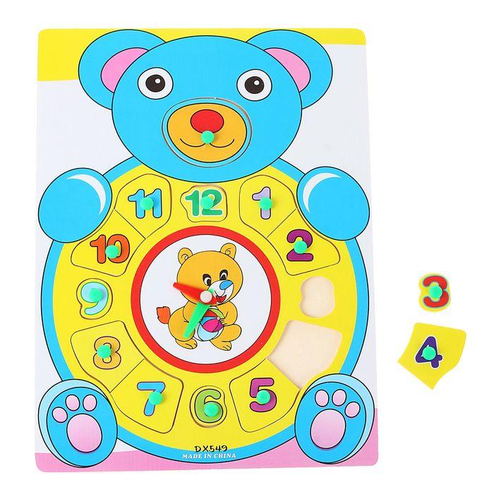 Часы рамка - вкладыш «Мишка косолапый», 13 элементов