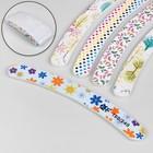 Nail file-emery, abrasiveness, 180/240, 18cm, boomerang, packing 20pcs, pattern MIX