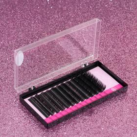 A set of lashes for increasing, 9, 11, 13 mm, thickness 0.10 mm, bending D