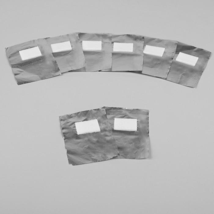Фольга для снятия гель-лака с текстильным спонжем, 100шт
