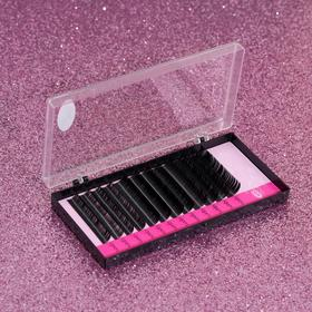 A set of lashes for increasing, 9, 11, 13 mm, thickness 0.15 mm, bending D