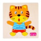 """Frame - liner on a wooden base """"Tiger"""", 7 items"""