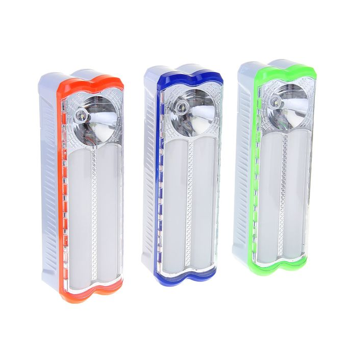 Переносной фонарь, с петлёй для ношения, 2 типа освещения, микс, 19.5х6х5 см
